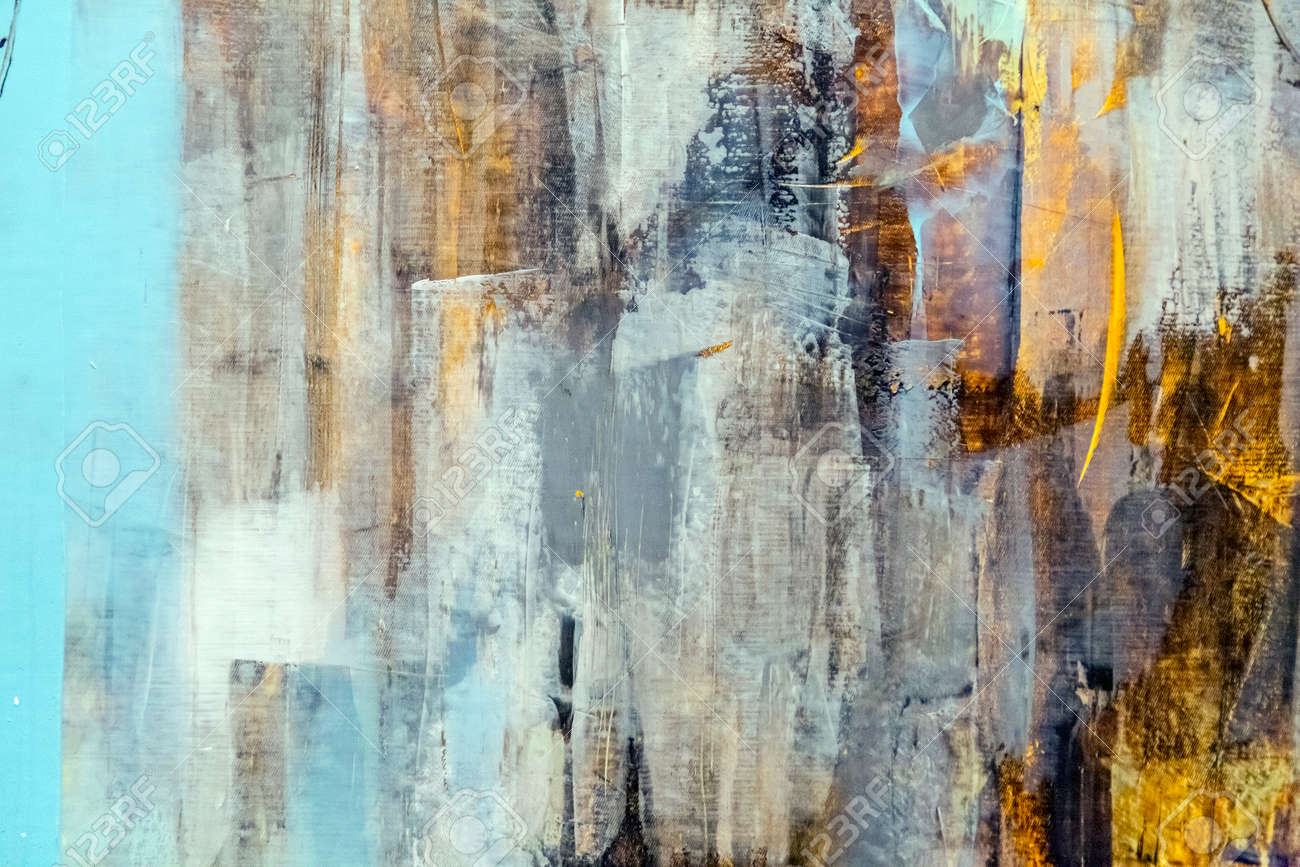 Painted Canvas Fragment, Abstract Art Painting Detail Texture ...