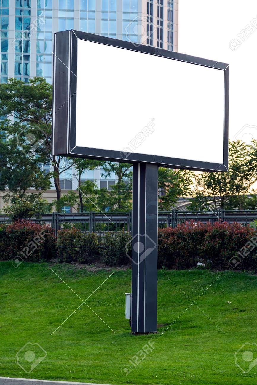 Bon Banque Du0027images   Blank Advertisement Affichage, Panneau Du0027affichage  Extérieur En Milieu Urbain Avec Un Espace De Copie, Y Compris Des Chemins De  Détourage.