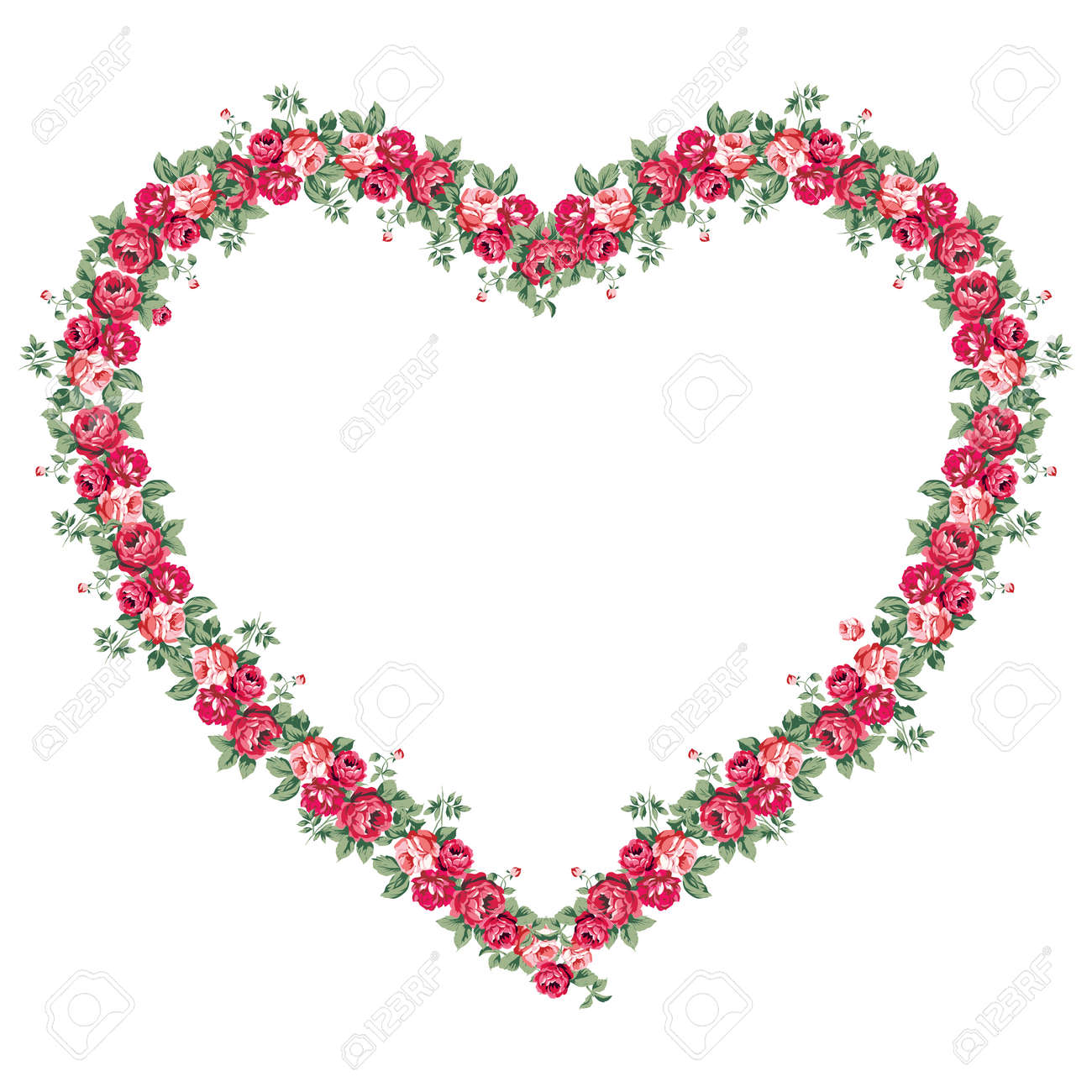 Marcos Elegantes Para Fotos. Leaves Roses Vintage Design Motif ...