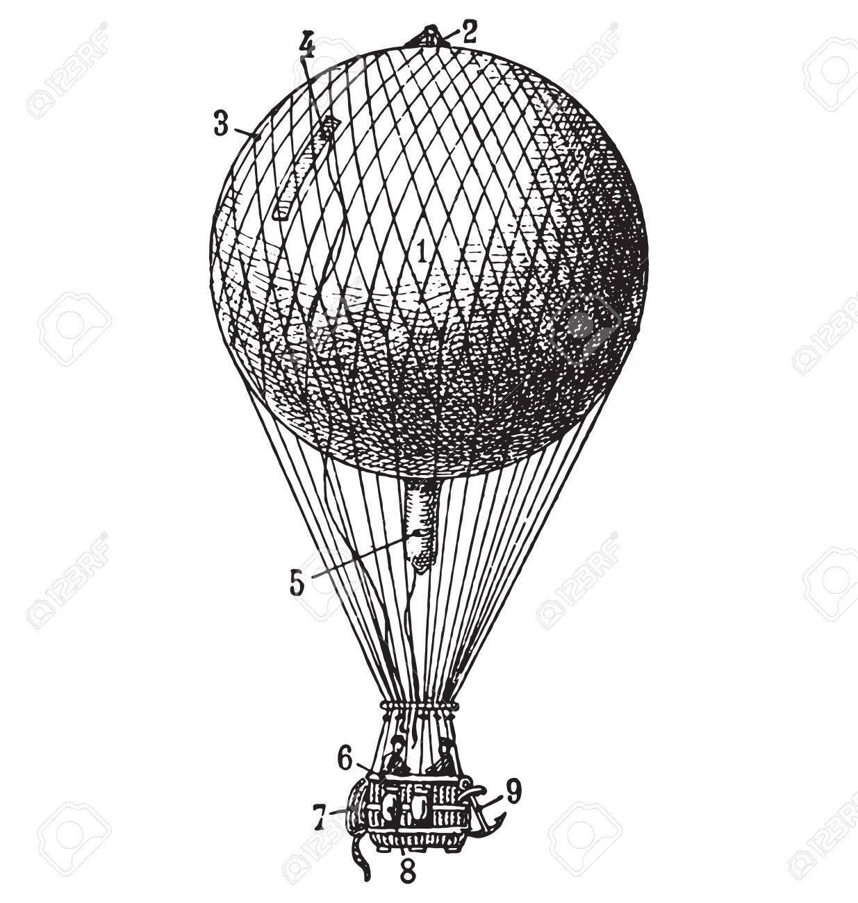 Vintage Air Balloon Royalty Free Cliparts, Vectors, And Stock ...