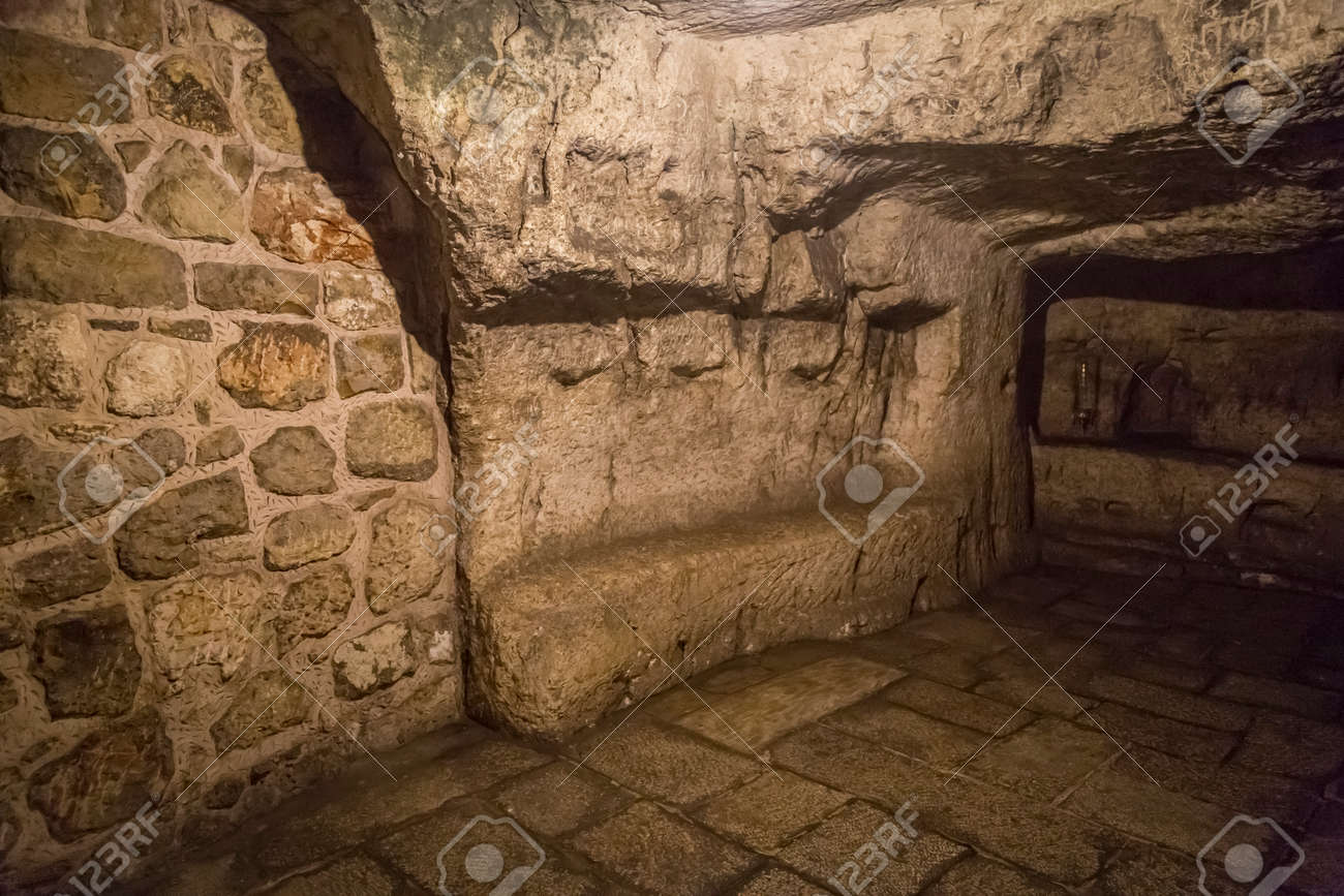 Monastery of the Praetorium in Jerusalem, Israel. The Greek Orthodox belive as the real place where Jesus was held the night before his trail. - 113833180