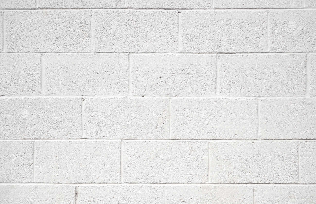 Painted cinder block wall texture - White Painted Concrete Block Wall Background Texture Stock Photo 19752743