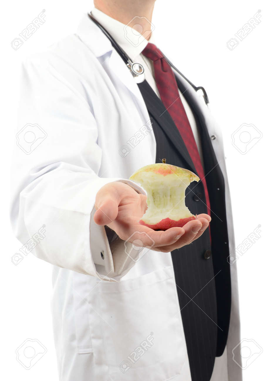doctor showing healthy food to eat Stock Photo - 23080331