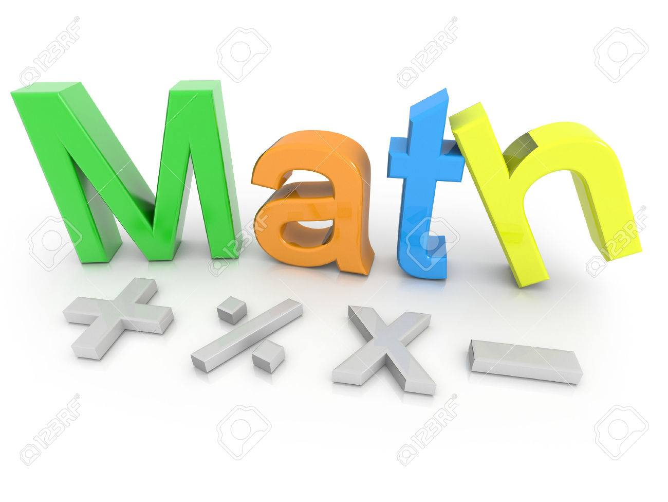 Math Text With Math Symbols Isolated On A White Background Stock