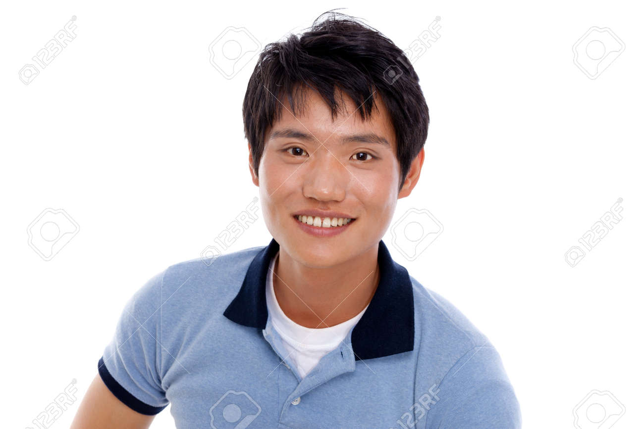 Young Asian man with smiling isolated on white background Stock Photo - 14487111