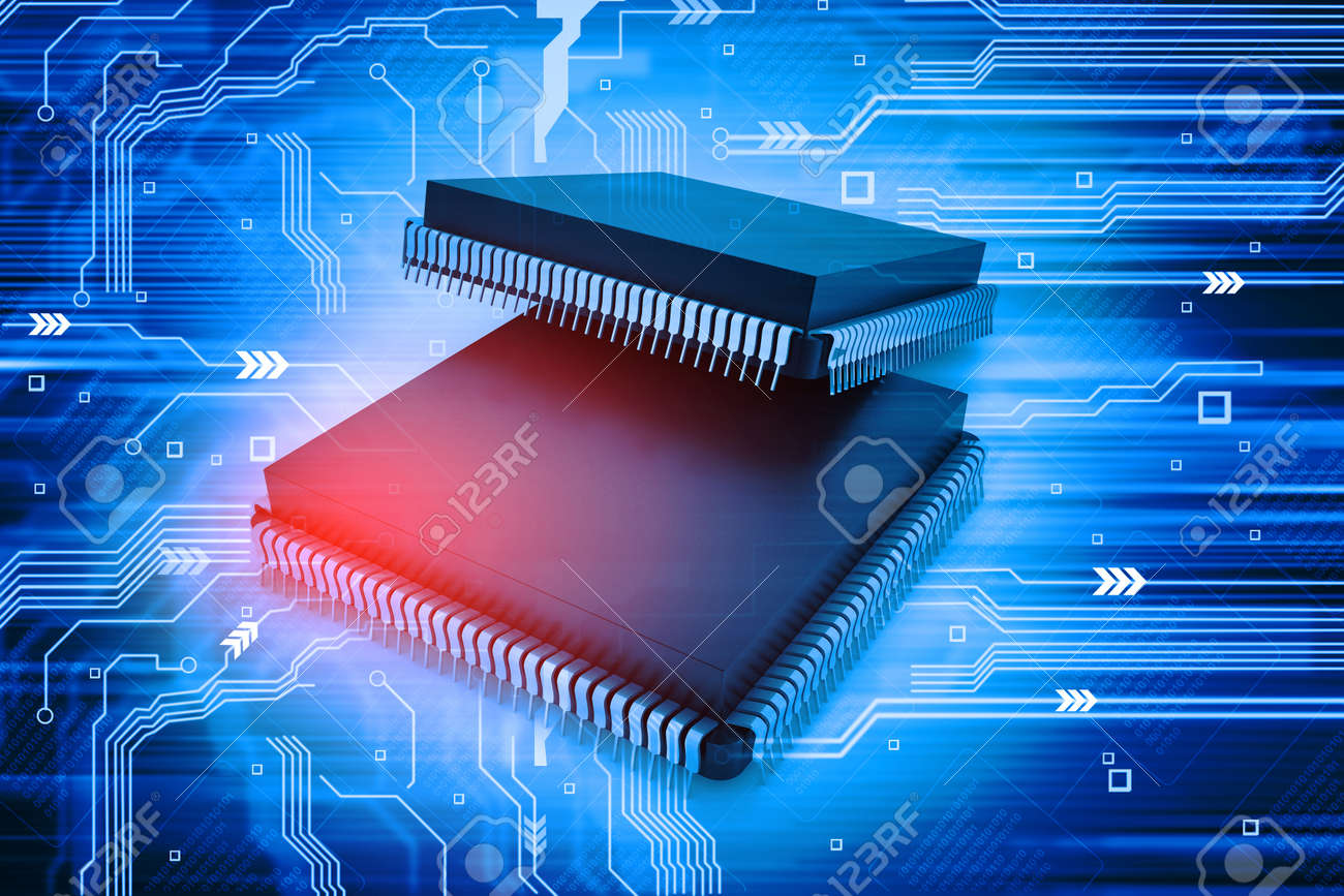 Electronic Integrated Circuit Chip Stock Photo Picture And Royalty Free Image 30973543