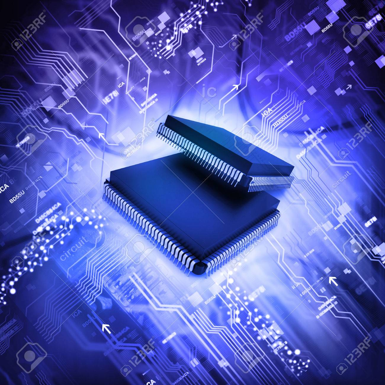 Electronic Integrated Circuit Chip Stock Photo Picture And Royalty Free Image 48053238