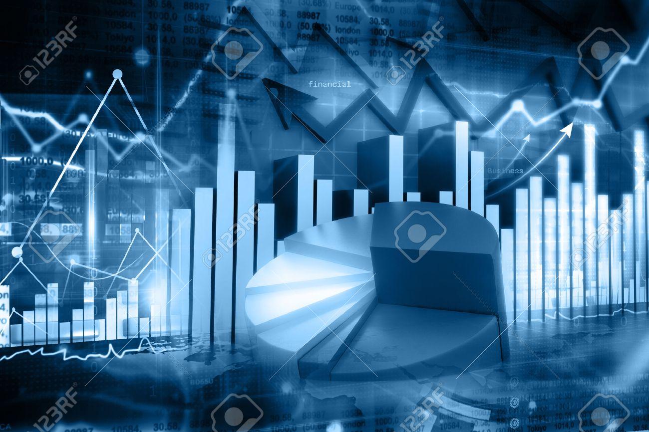 Economical stock market graph - 58422544