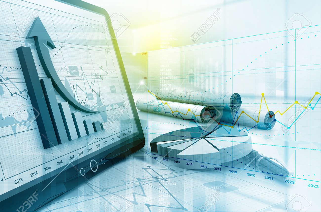 Economical stock market graph - 61063053