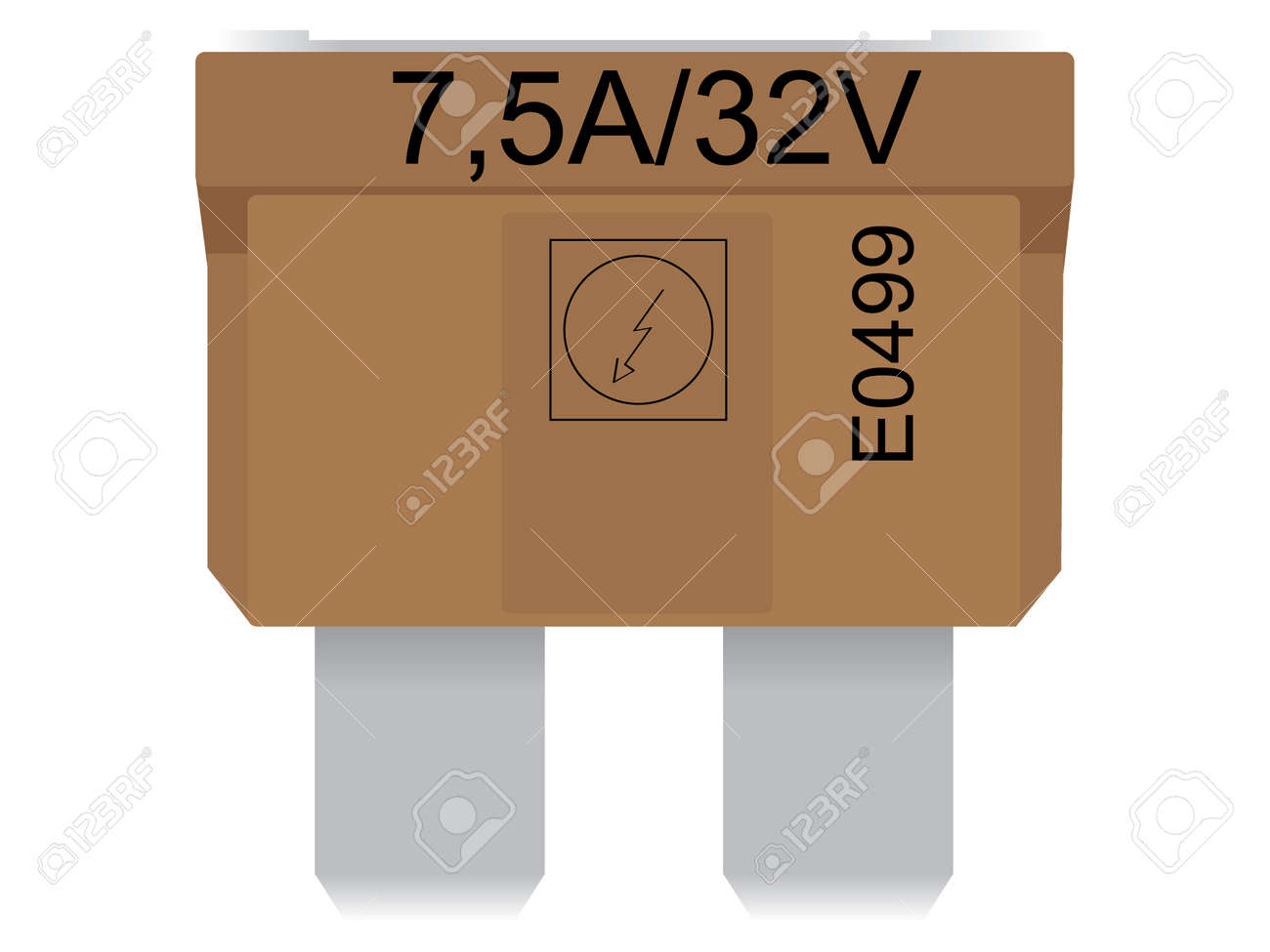 Electrical Fuse Vector Vector Fuse in The Car