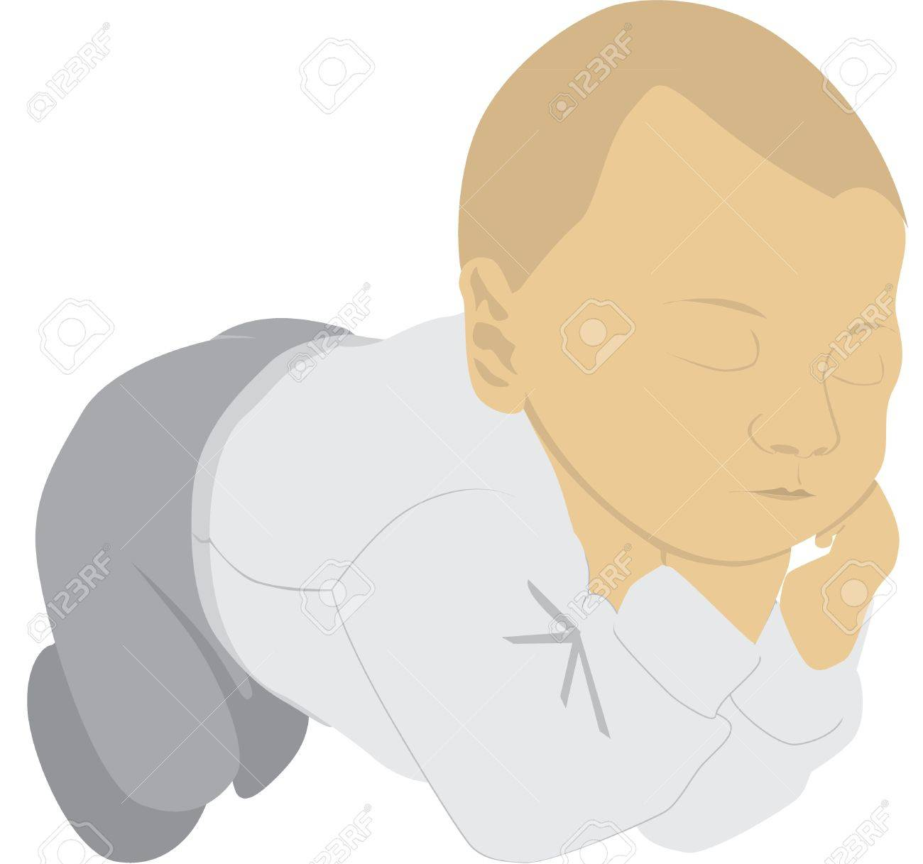sleeping child dreaming - illustration Stock Vector - 11495868