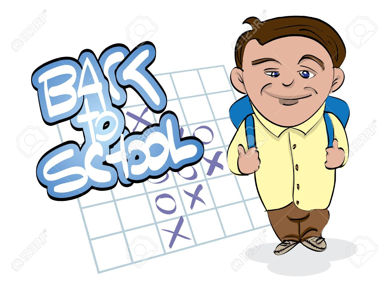 back to school theme with boy Stock Vector - 11496553