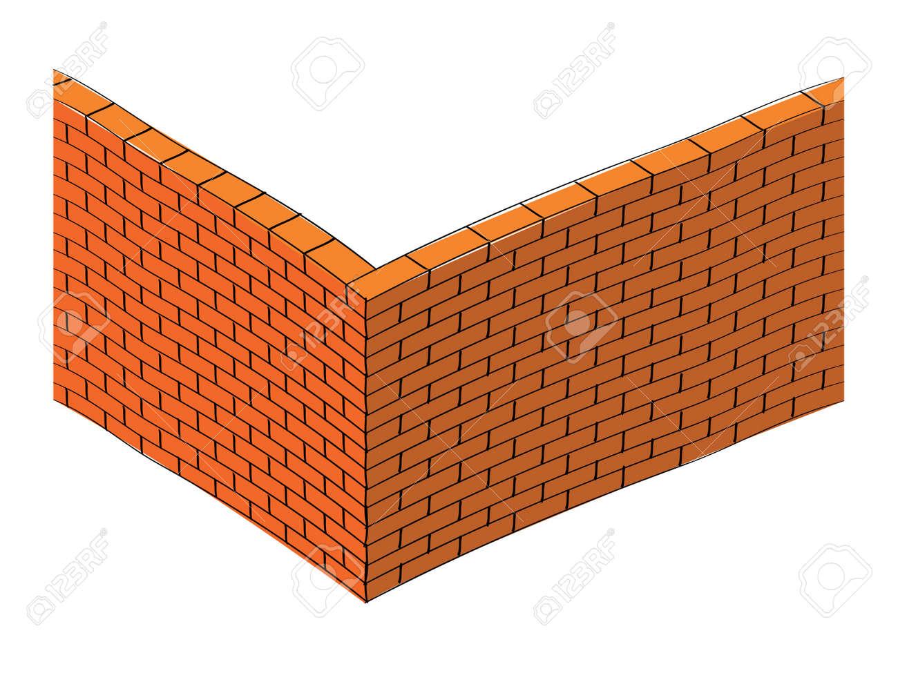 3d Brick Wall Illustration Stock Vector