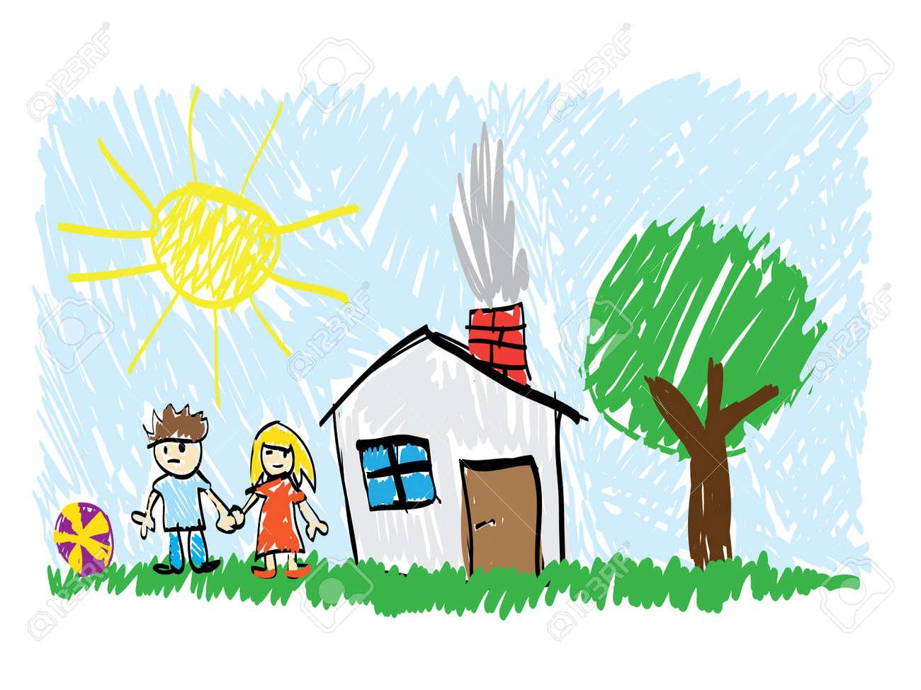 child draw Stock Vector - 11496908