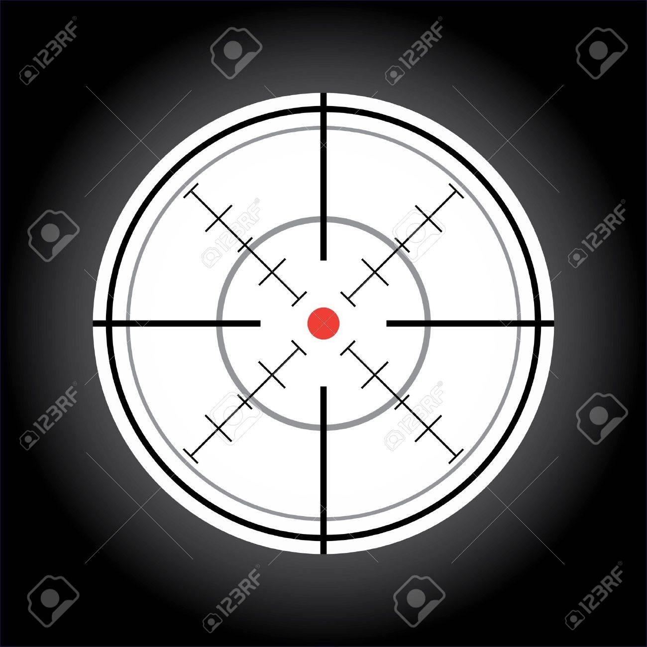 crosshair with red dot - illustration Stock Vector - 11496359