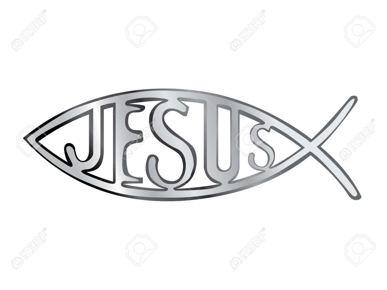 Silver christian fish symbol illustration royalty free cliparts silver christian fish symbol illustration stock vector 11658805 buycottarizona Image collections