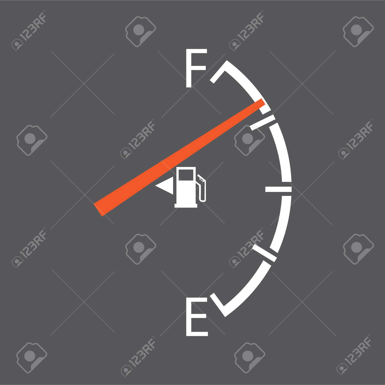 gas gage isolated on a grey background Stock Vector - 11658897