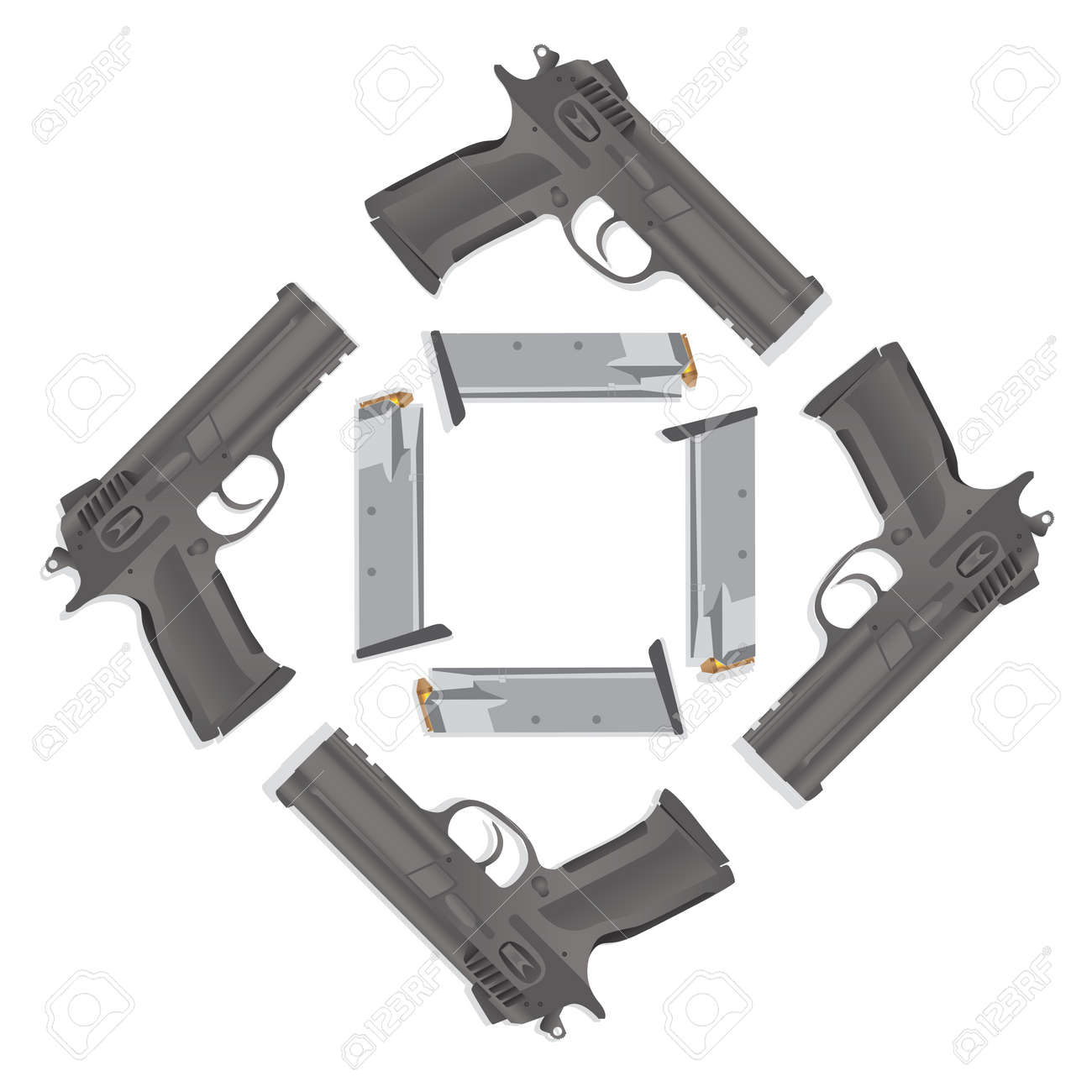 isolated gun detailed realistic illustration Stock Vector - 11904558