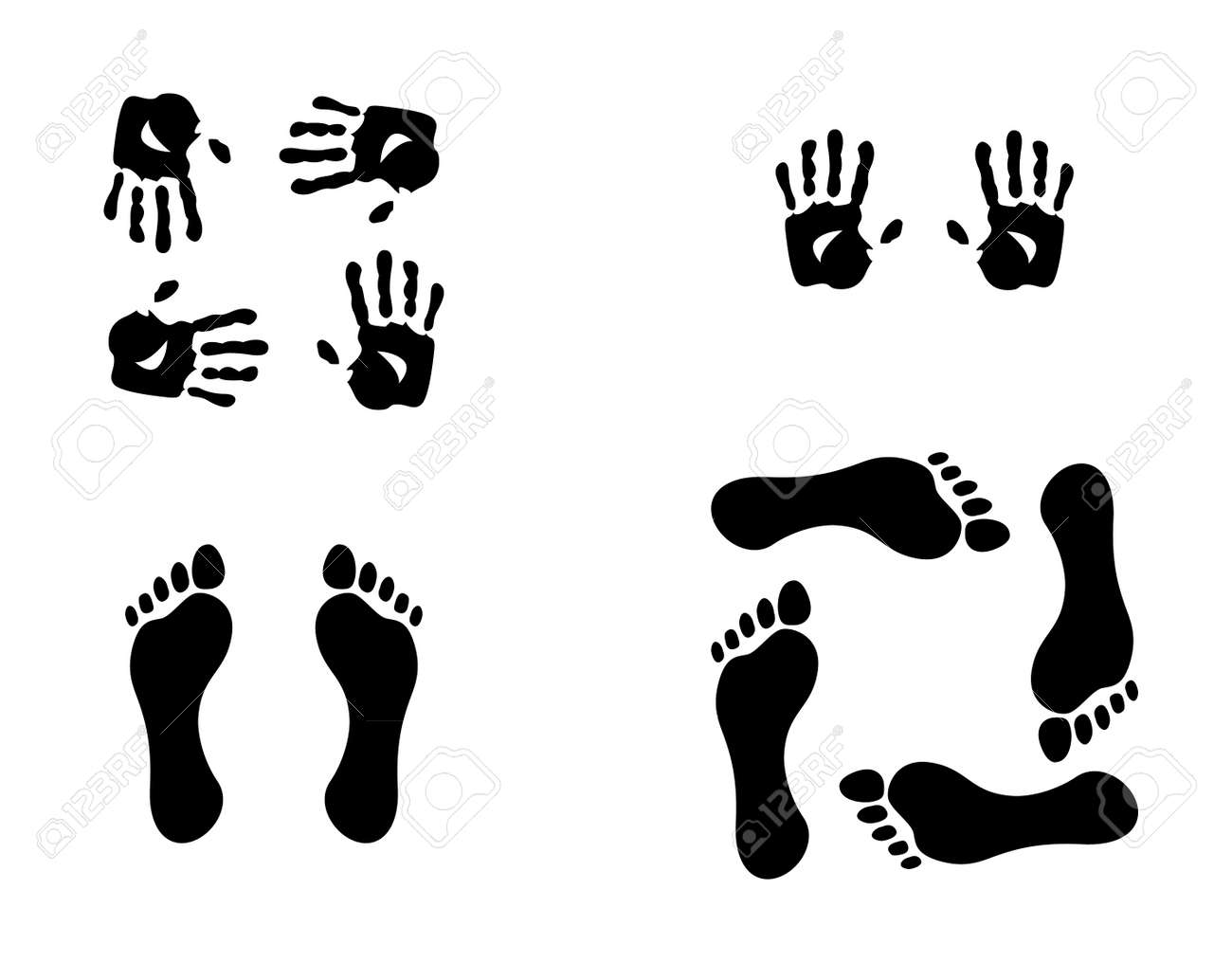 hands and foots illustration Stock Vector - 11904530
