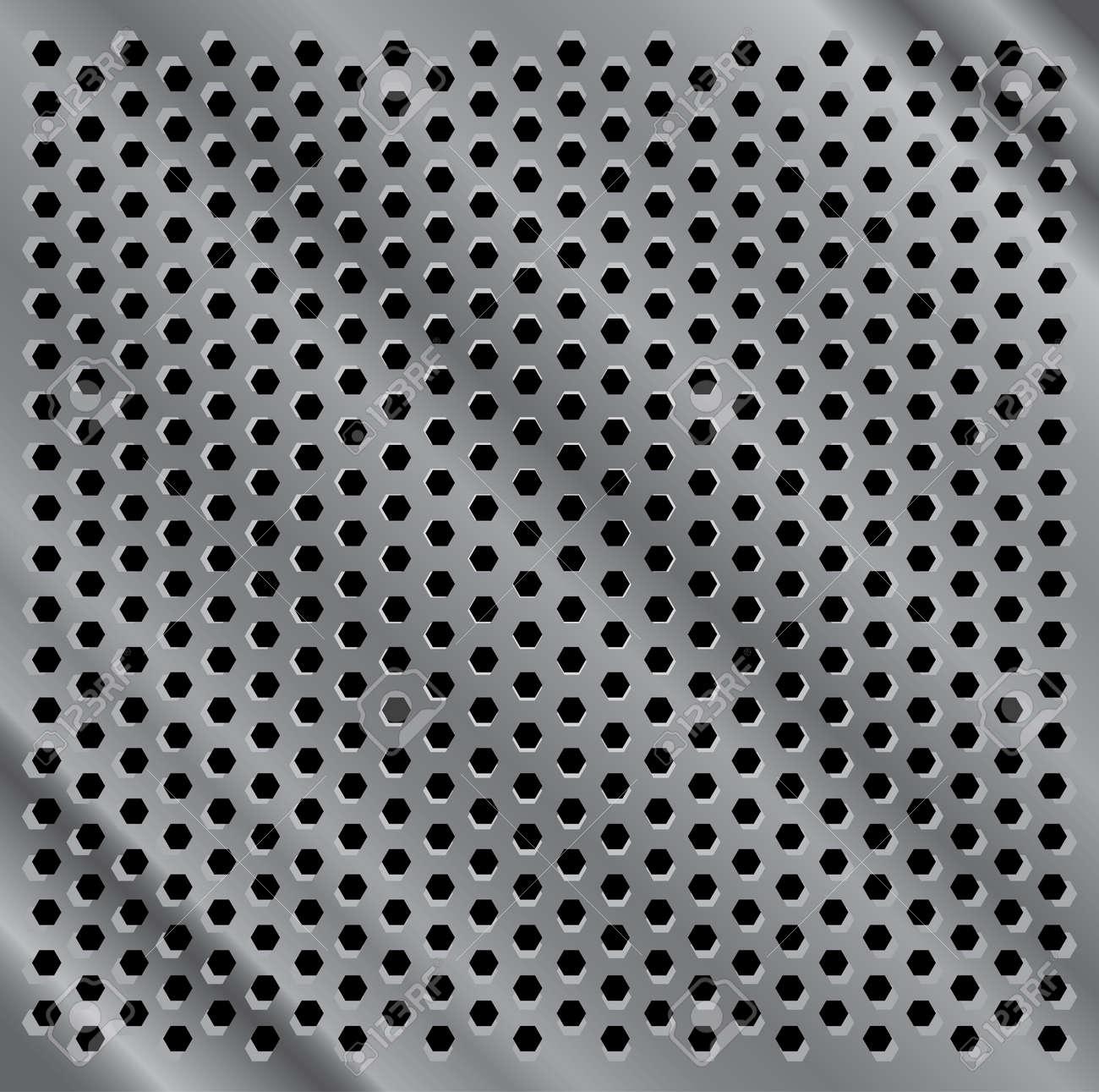seamless metal indented desk background illustration Stock Vector - 12113699