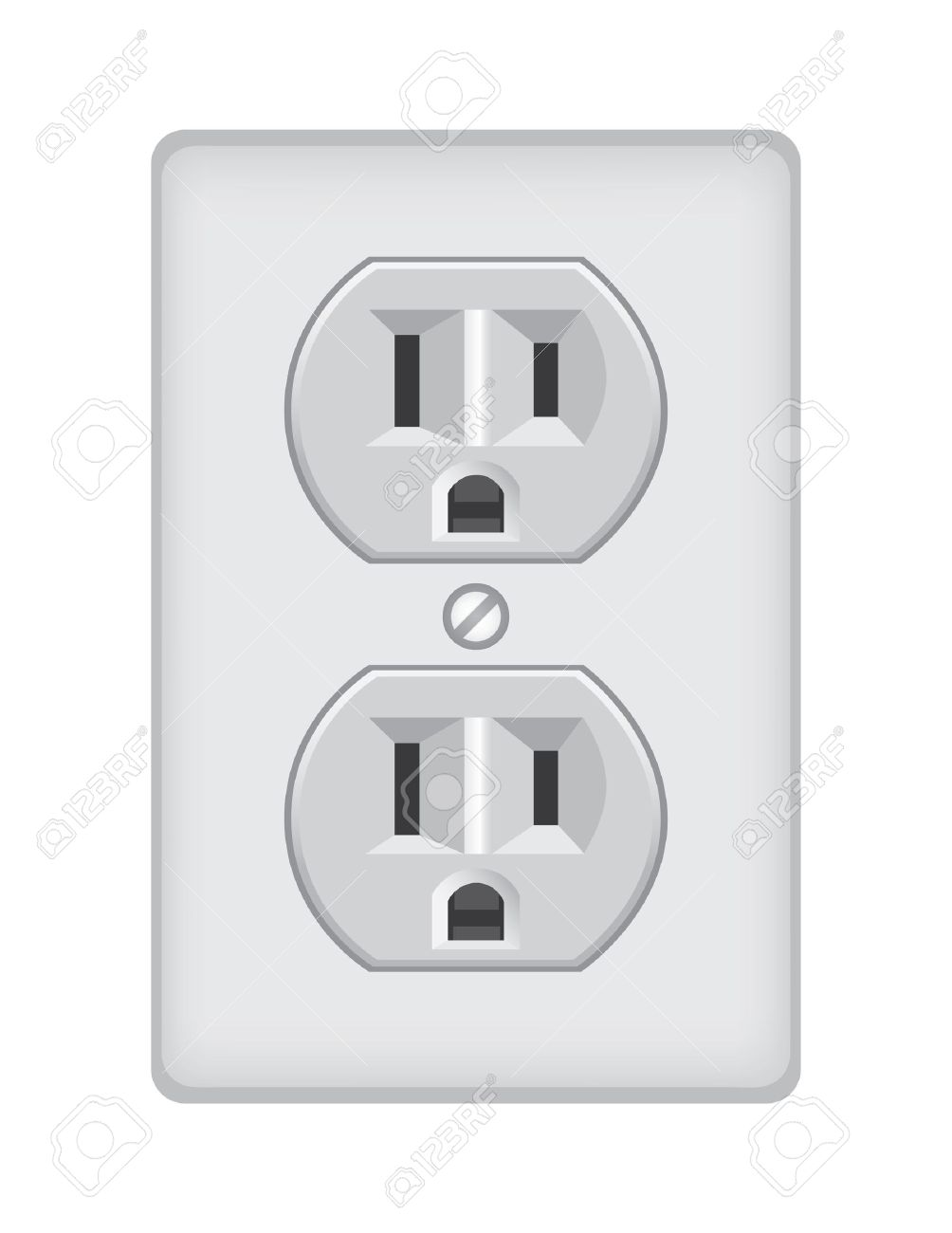 U S Electric Household Outlet Isolated - Illustration Royalty Free ...
