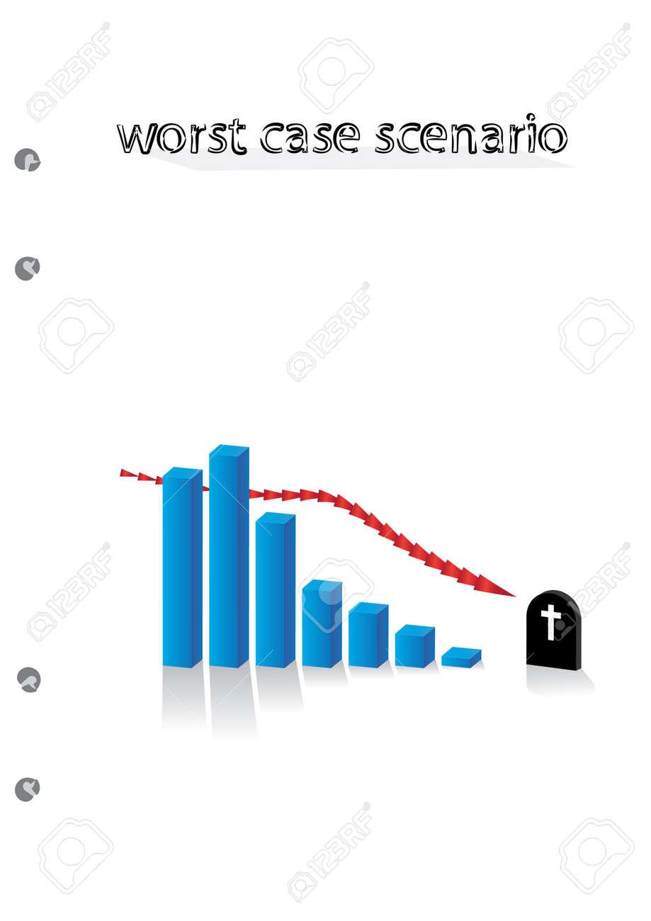 worst case scenario graph - illustration Stock Vector - 12453178