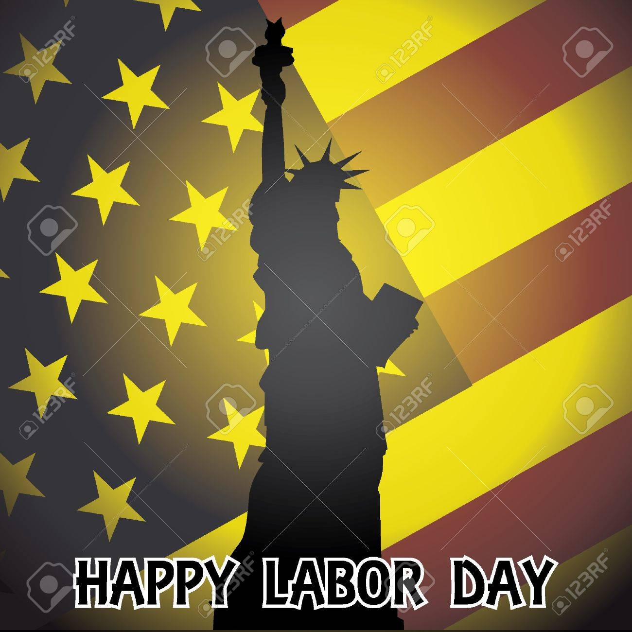 happy labor day - illustration Stock Vector - 12454861