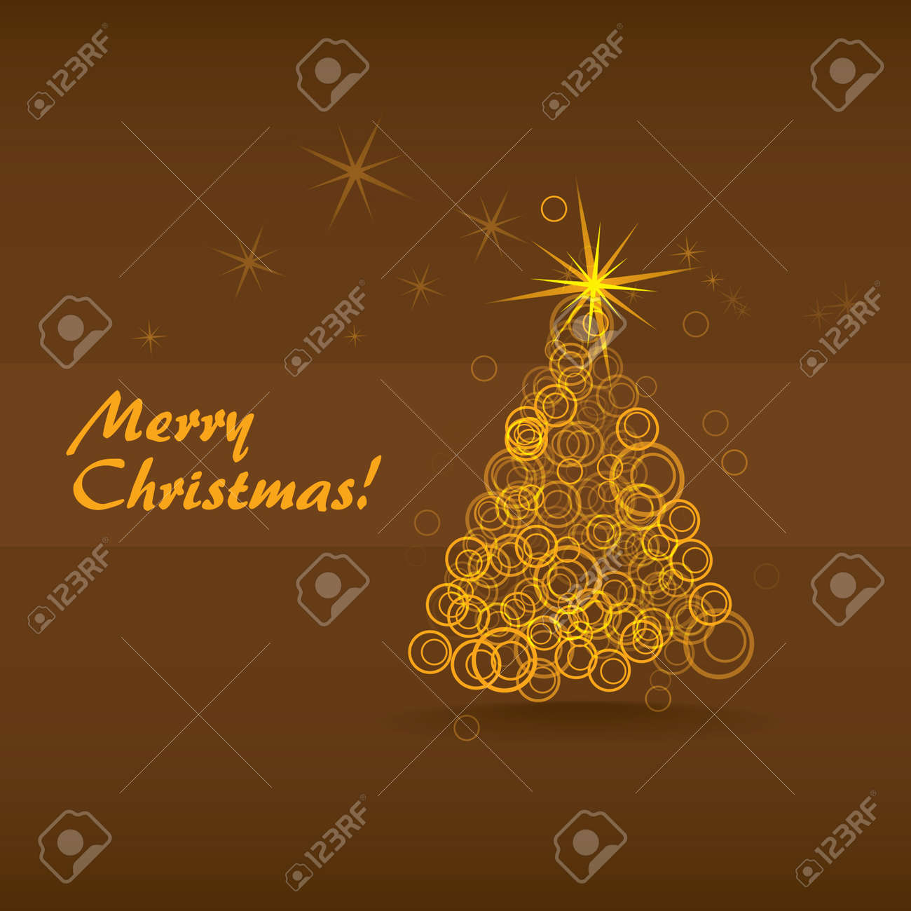 abstract christmas tree from the bubbles Stock Vector - 12450172