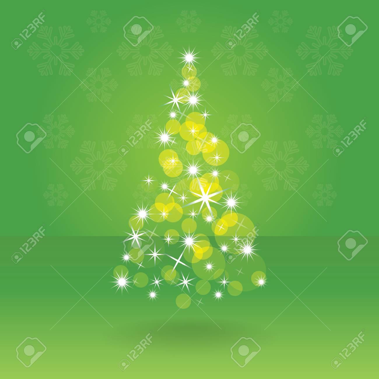 Shiny abstract christmas tree, illustration Stock Vector - 15173157