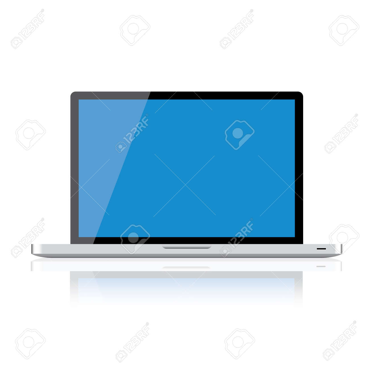 Laptop isolated on white background, clipping path included Stock Vector - 16857768