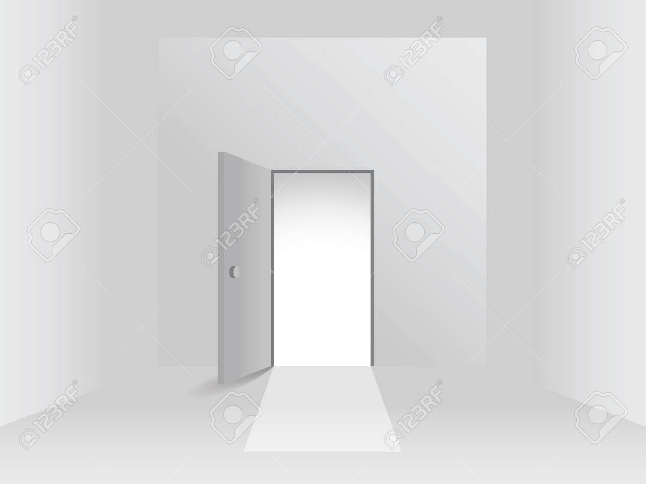 Room with open door, illustration Stock Vector - 16857739