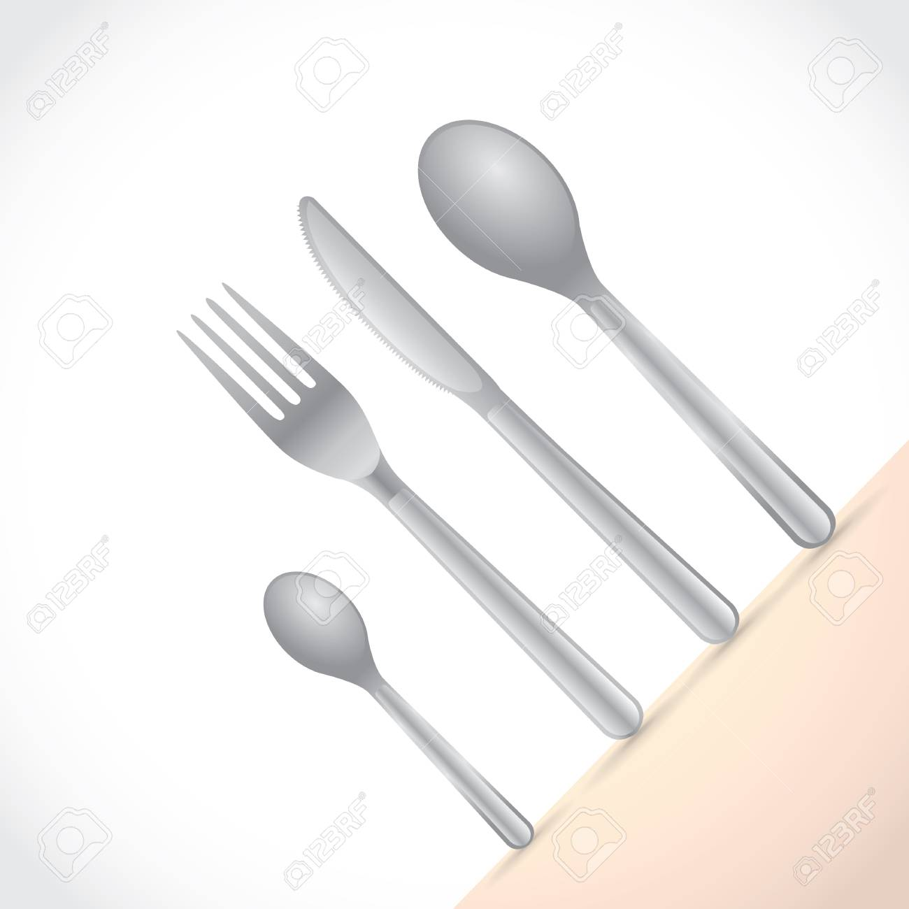 Cutlery, dishes, coffee spoon, spoon, knife and fork Stock Vector - 17181557