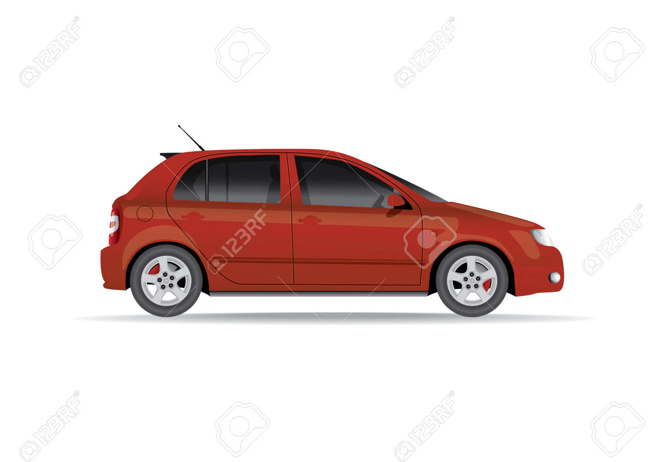 Car from the side - realistic illustration Stock Vector - 17745114