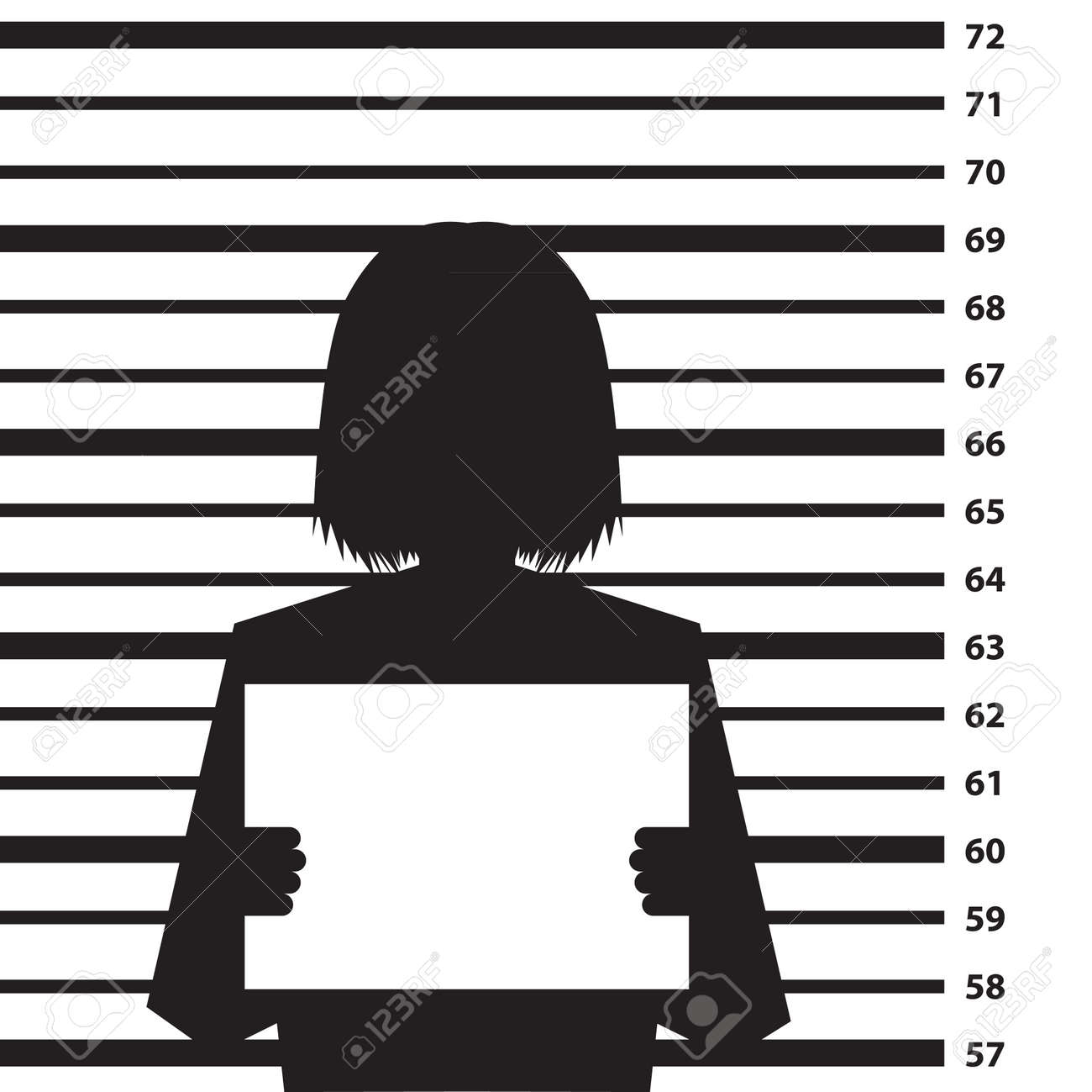 Police criminal record background with woman silhouette- illustration Stock Vector - 17745016
