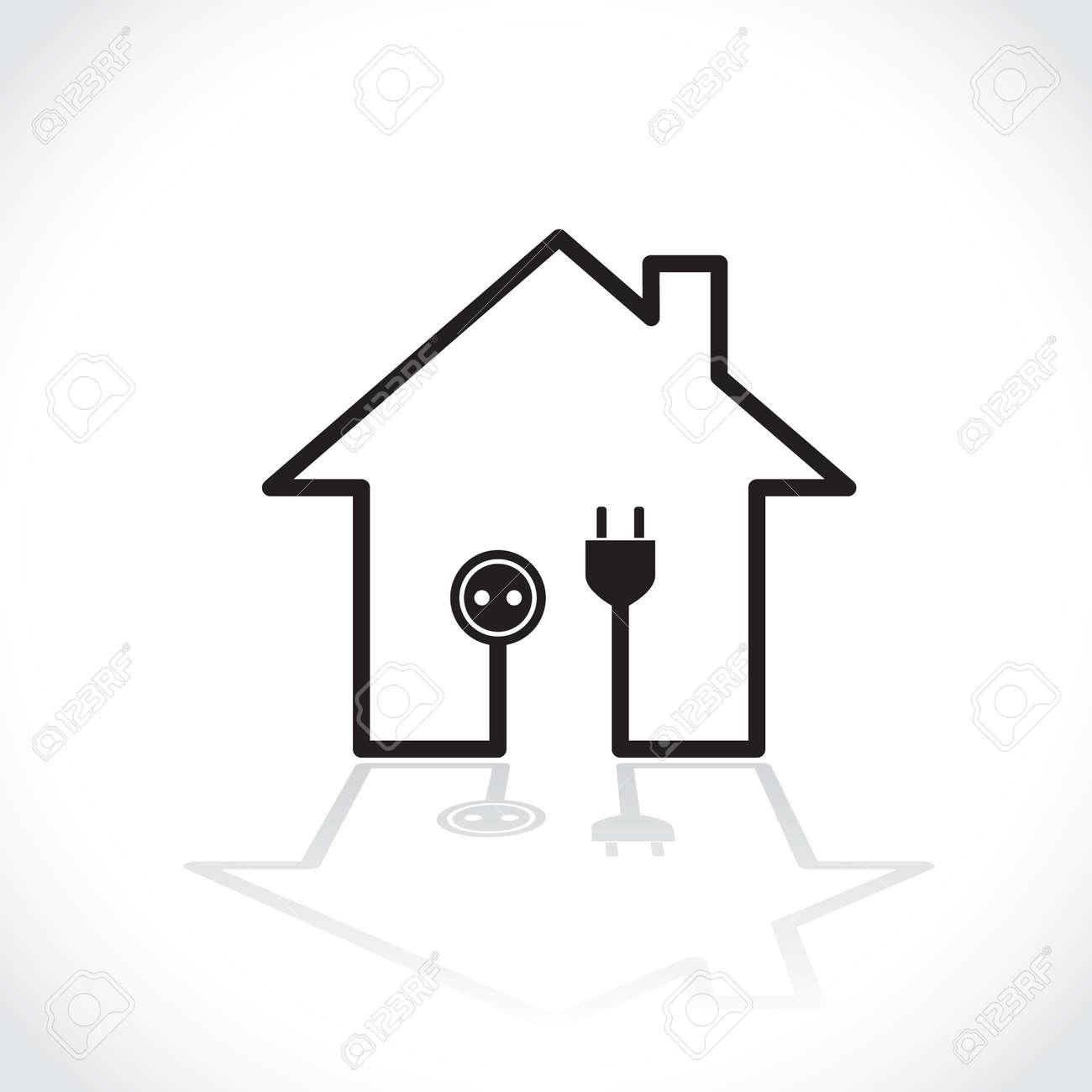 Circuito Electrico Simple De Una Casa : Casa símbolo como circuito eléctrico sencillo ilustración