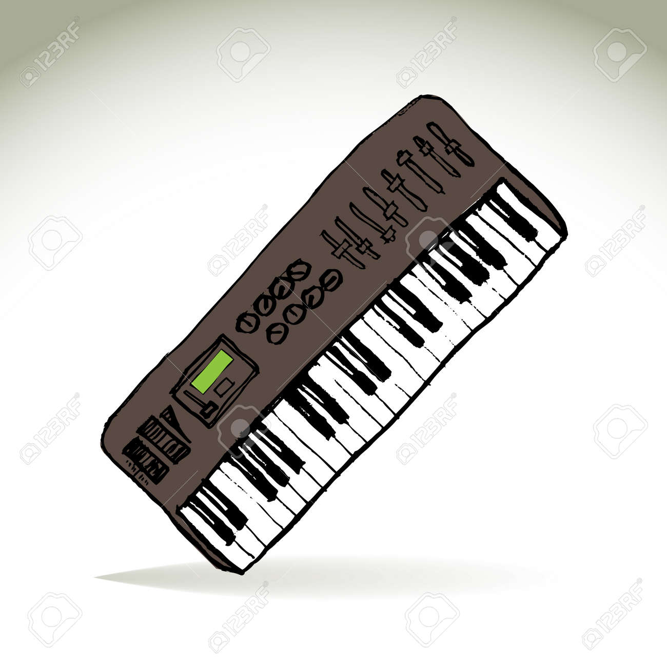 Music midi master keyboard - illustration Stock Vector - 21904814