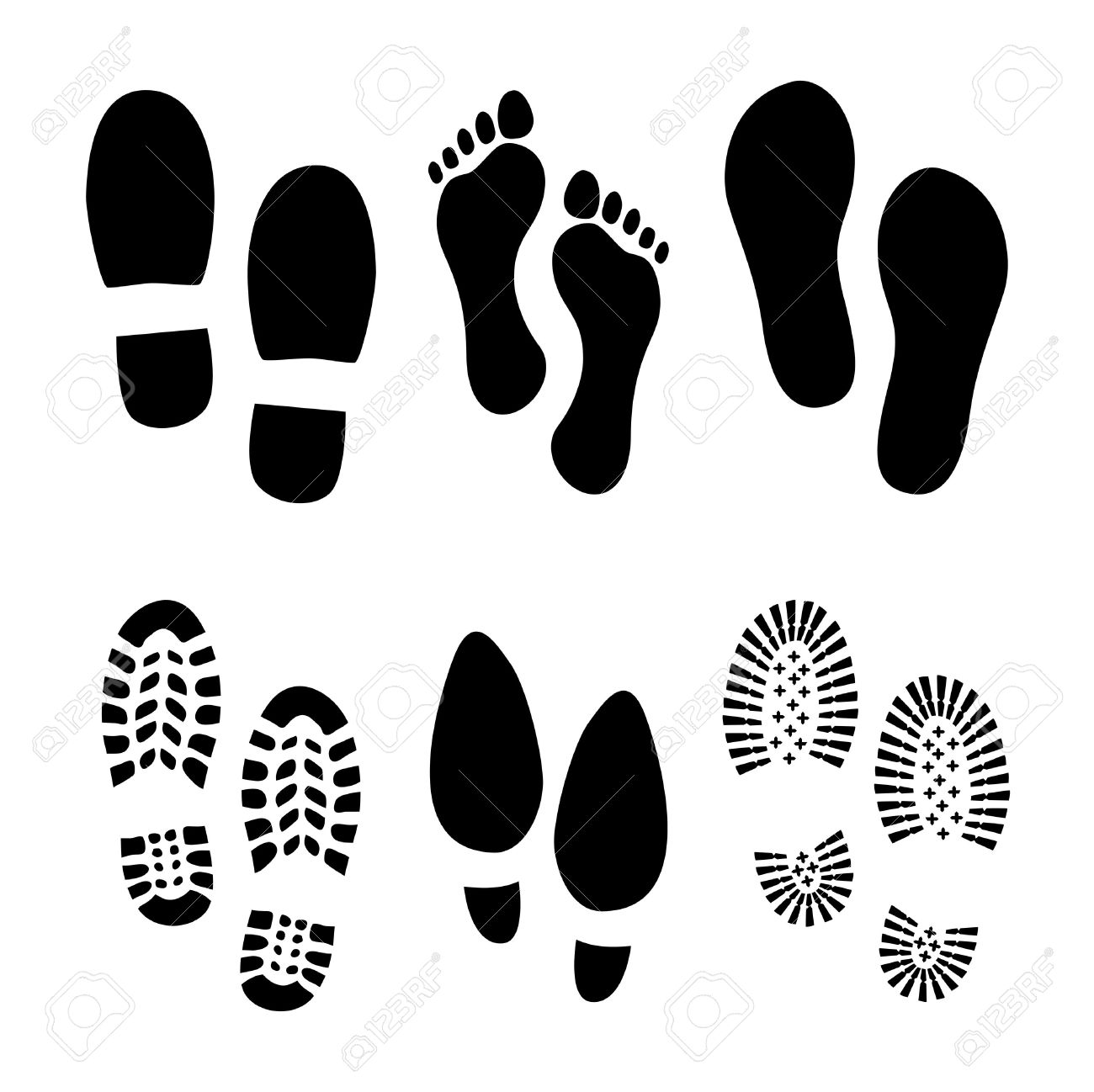 Set of footprints and shoes - 39796818