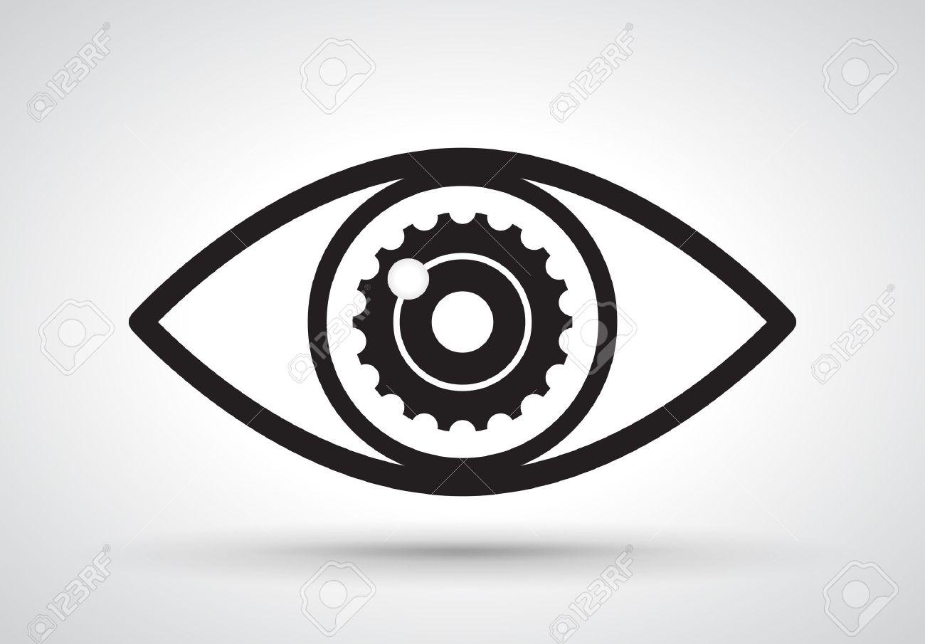 Gear in eye, vector - 42832646