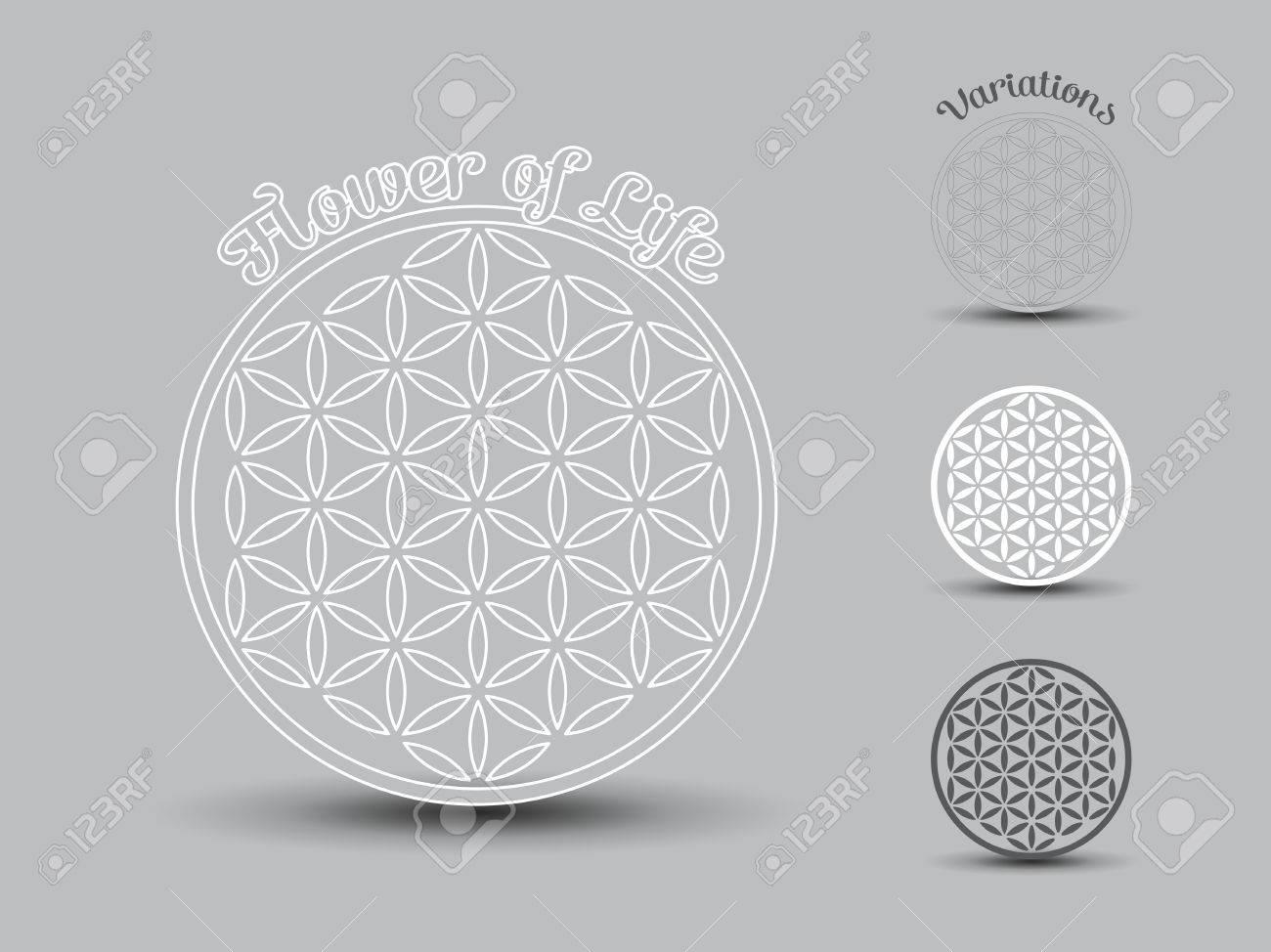 Flower of Life symbol, set of Banque d'images - 44028426