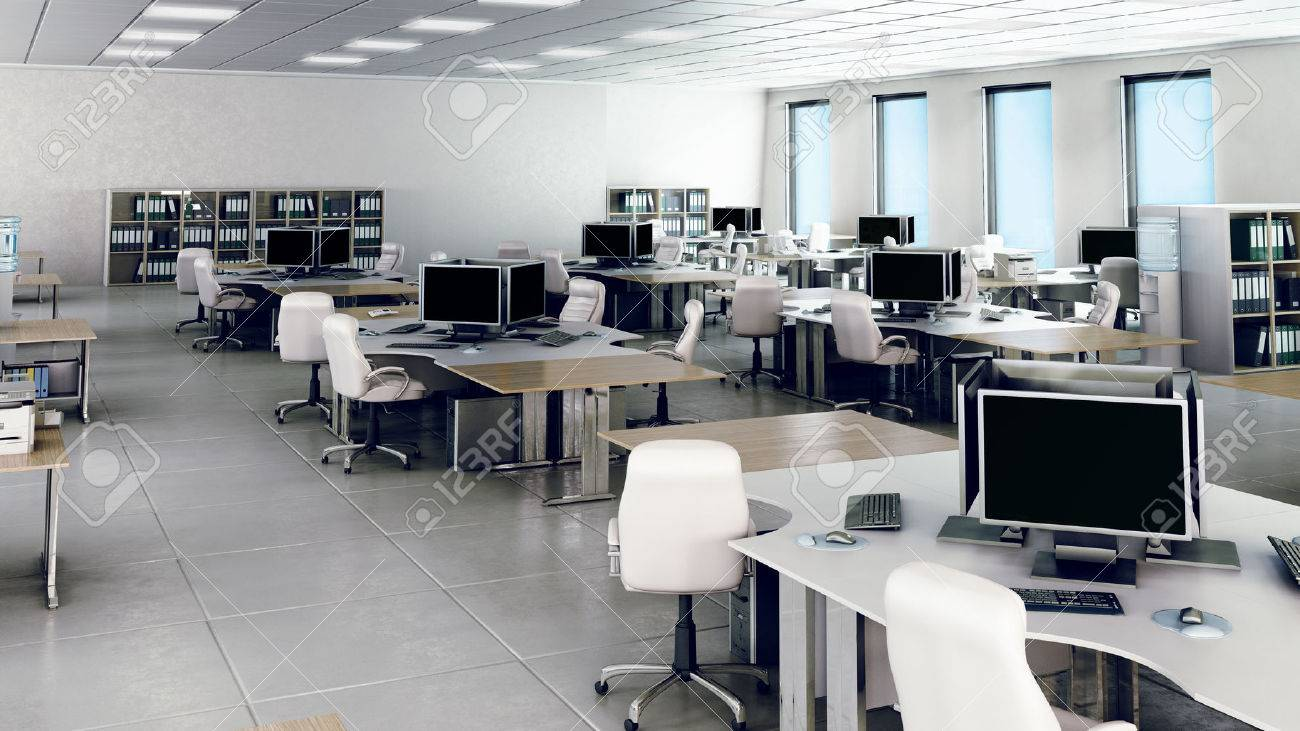 Modern empty office interior stock photo picture and royalty free