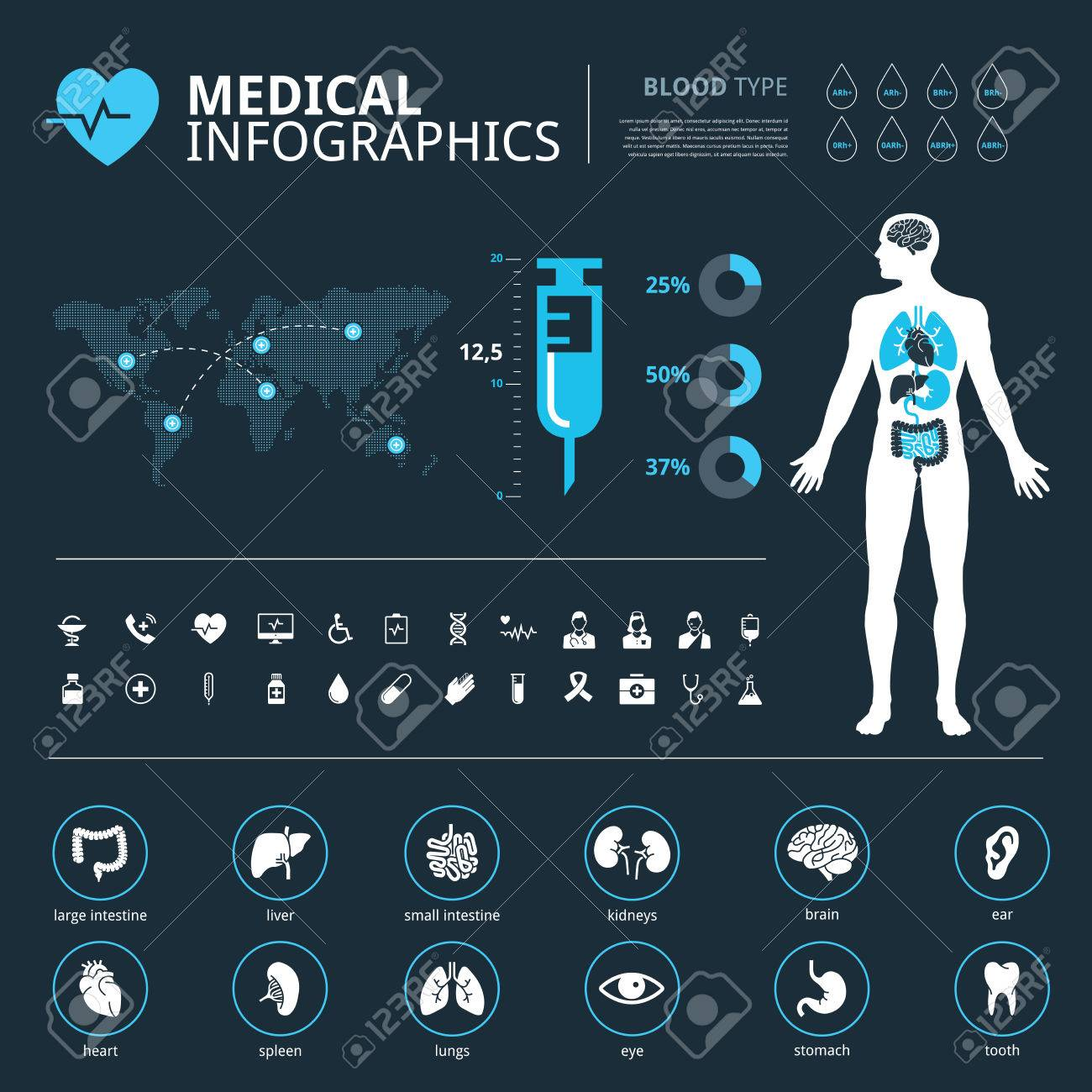 Medical icon set human organs with human body and world map graphic medical icon set human organs with human body and world map graphic info stock vector gumiabroncs Choice Image