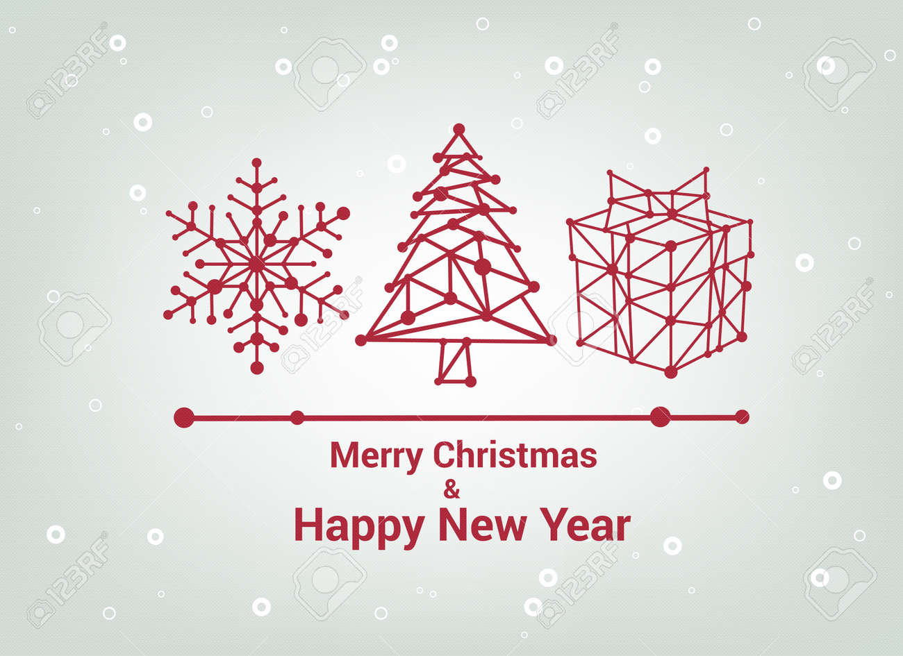 Christmas tree merry christmas and happy new year line christmas tree merry christmas and happy new year line minimalist style greeting card negle Image collections