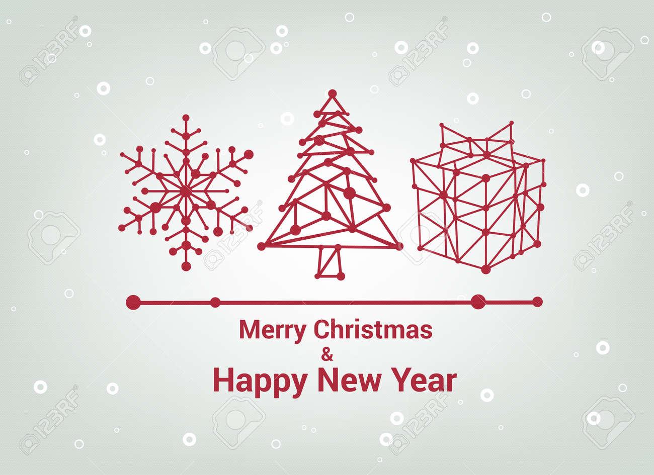 rbol de navidad hermoso diseo elegante ilustracin vectorial regalo de navidad feliz with navidad elegantes