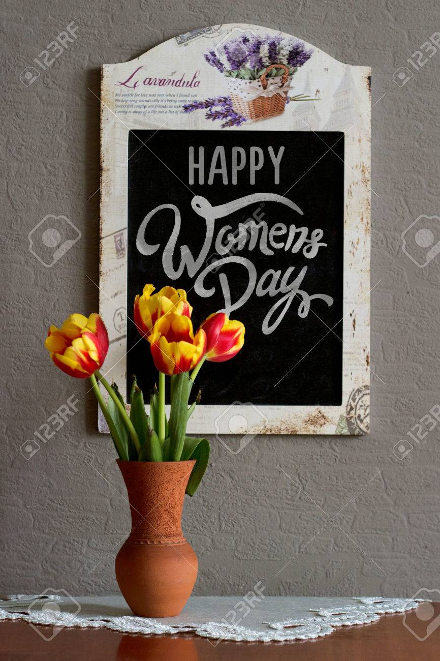 International Womens Day Happy Womens Day Message Written On