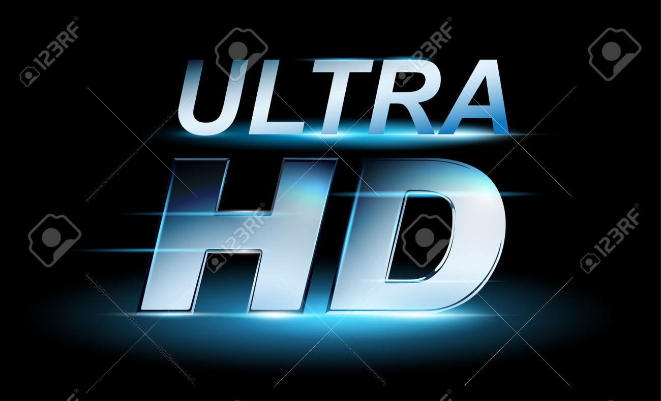 silver uhd icon, ultra high definition royalty free cliparts