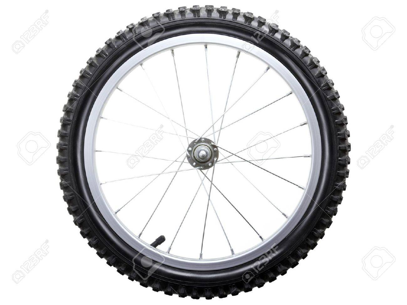 Sport bicycle tire and spoke wheel while isolated Stock Photo - 8122765