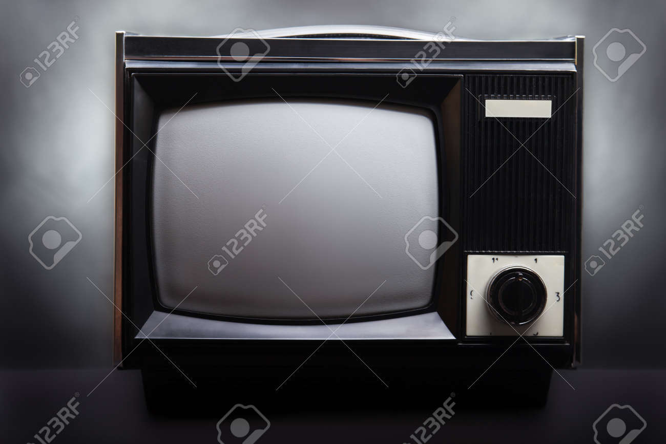 Retro television equipment blank display screen Stock Photo - 8180253