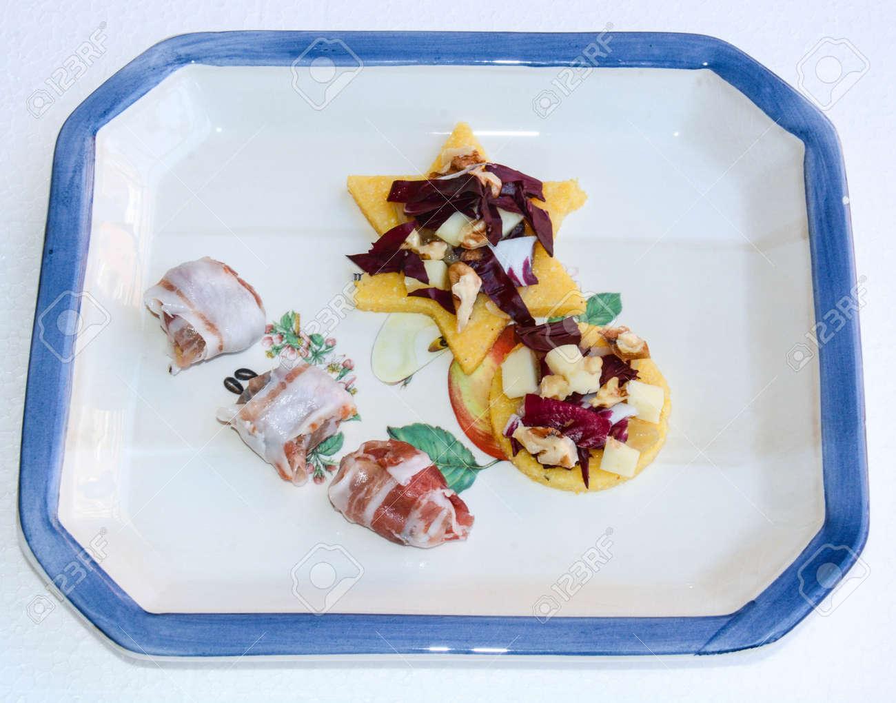 Original Italienische Küche Für Fingerfood Wie Apetizer Lizenzfreie ...