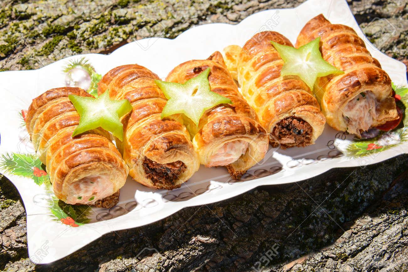 Vorspeise Original Italienische Italienische Küche Mit Lachs ...