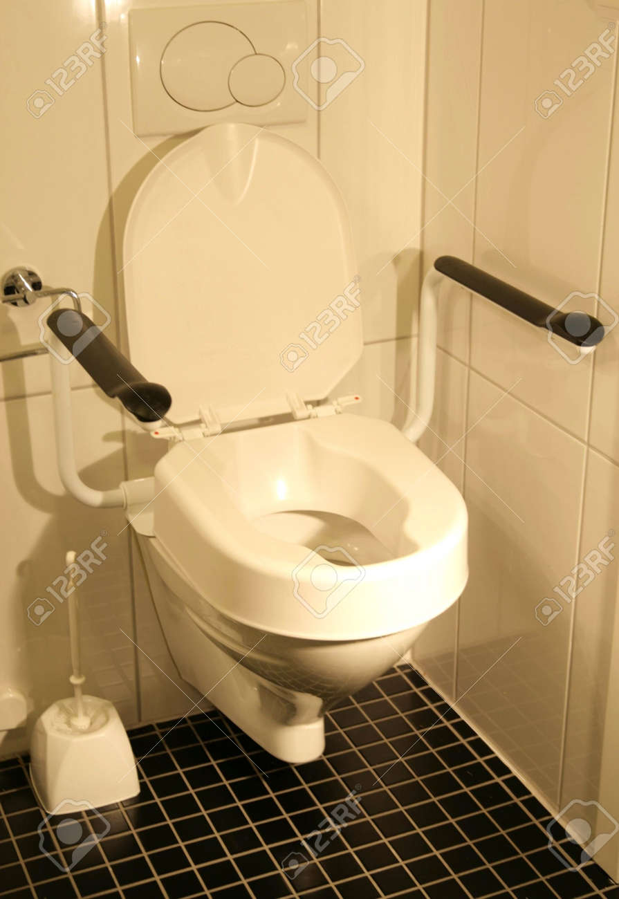 Handicap Bathroom Video On Facebook handicap toilet stock photo, picture and royalty free image. image